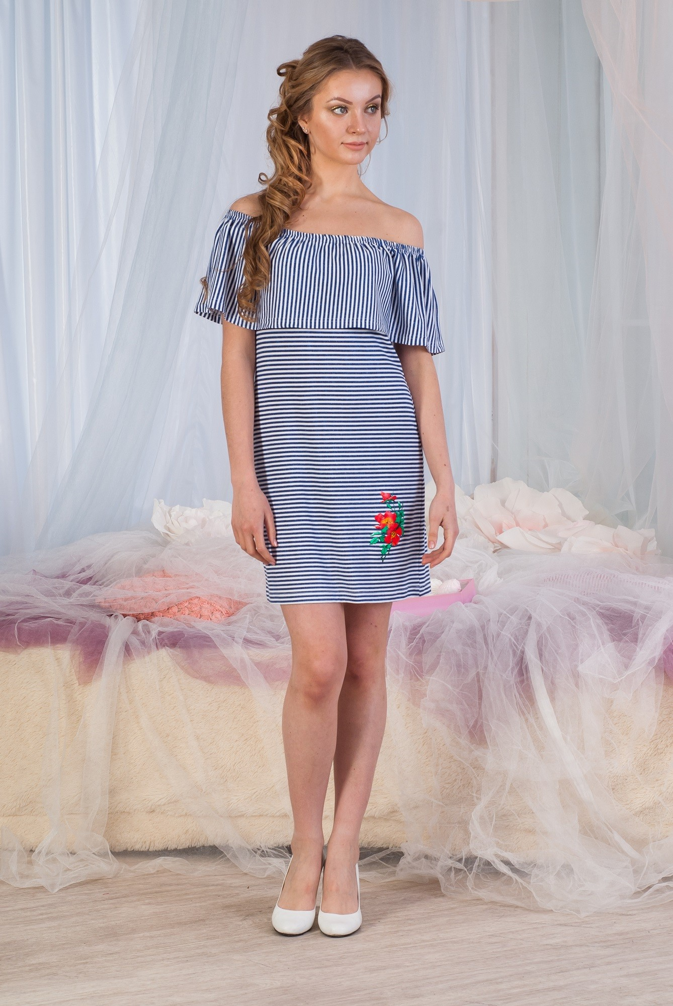 Платье-трансформер женское Модена в тонкую полоскуПлатья<br><br><br>Размер: 48
