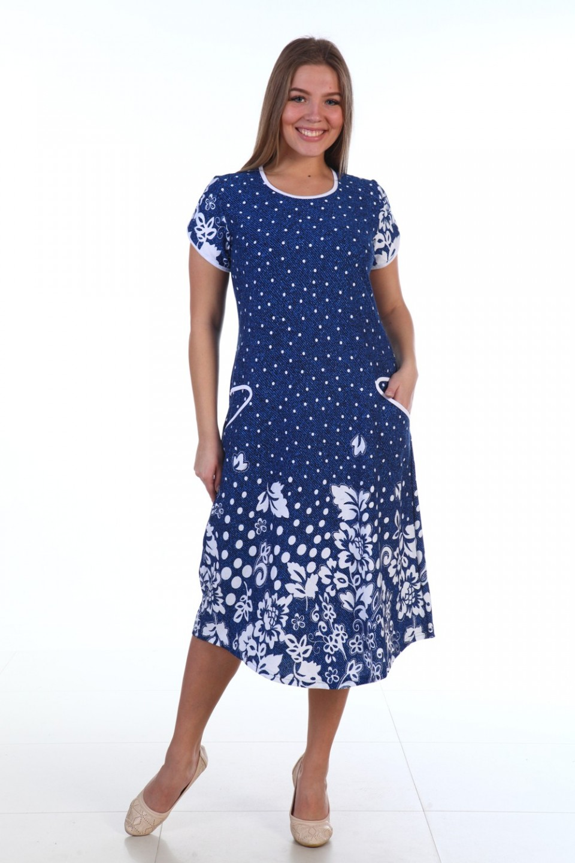 Платье женское Снежана с коротким рукавомПлатья<br><br><br>Размер: 50
