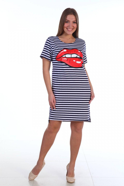 Туника женская Kiss с коротким рукавомТуники<br><br><br>Размер: 46