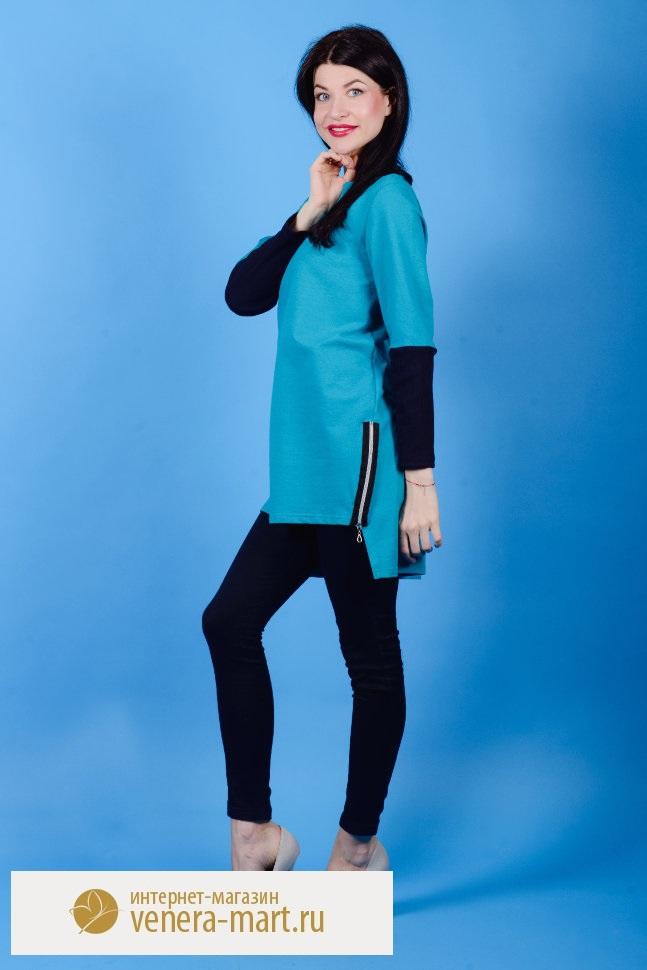Туника женская Оливия с длинным рукавомТуники<br><br><br>Размер: 52