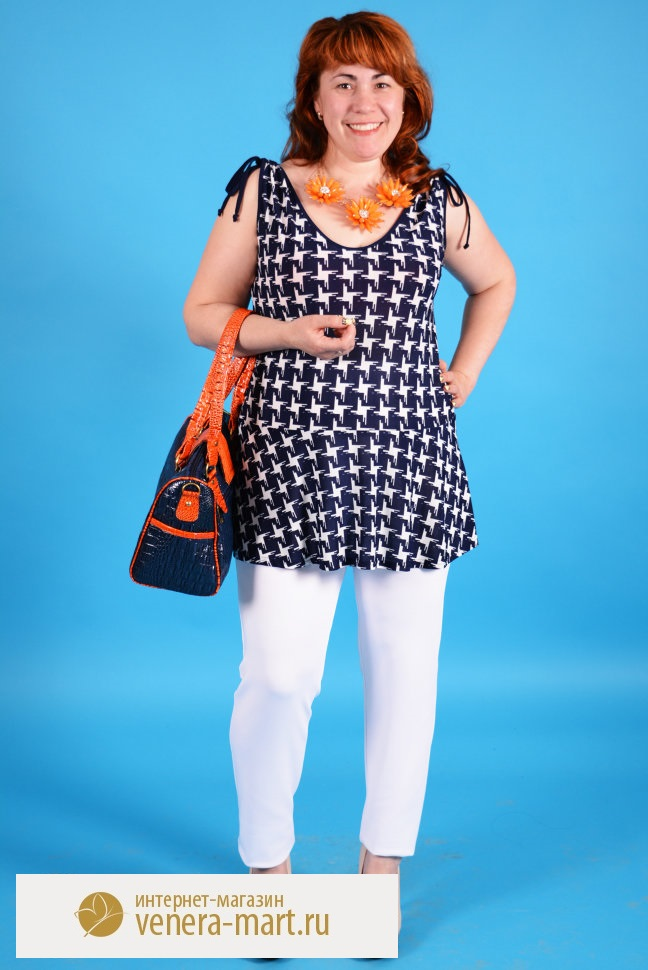 Туника женская Виринея без рукаваТуники<br><br><br>Размер: 58