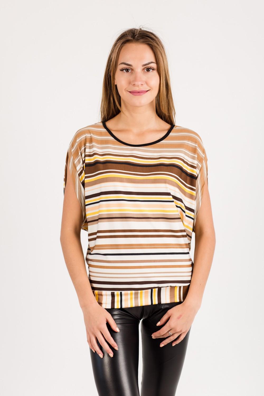 Блуза женская Миранда 2 с коротким рукавомТуники<br><br><br>Размер: 46