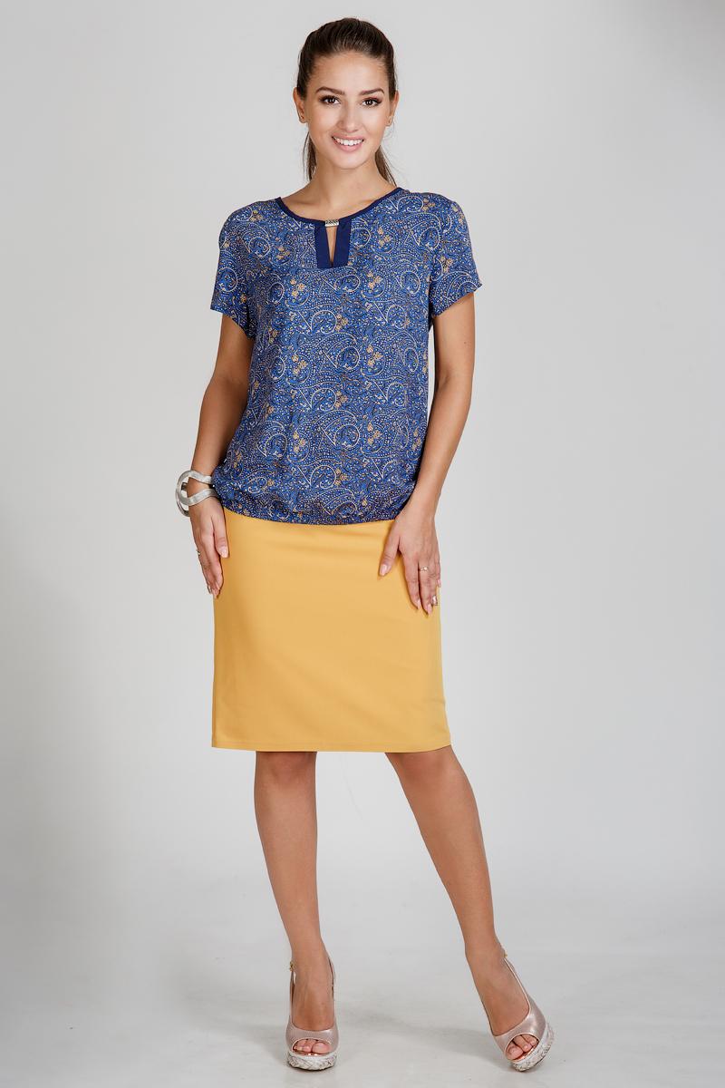 Блузка женская Алиша с коротким рукавомТуники<br><br><br>Размер: 50