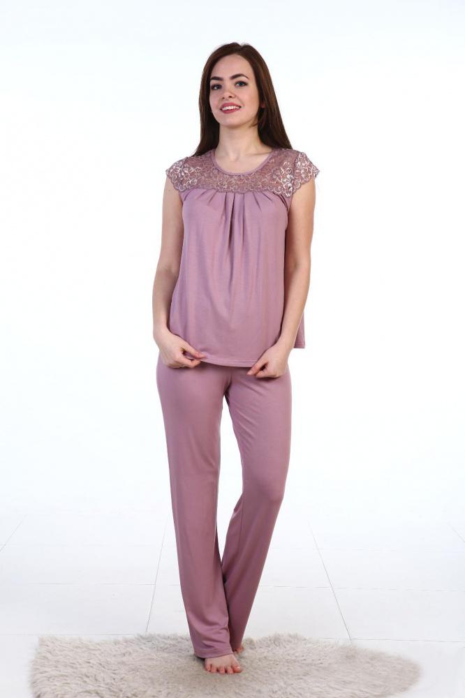 Пижама женская Матильда блуза и брюкиПижамы<br><br><br>Размер: Бордо
