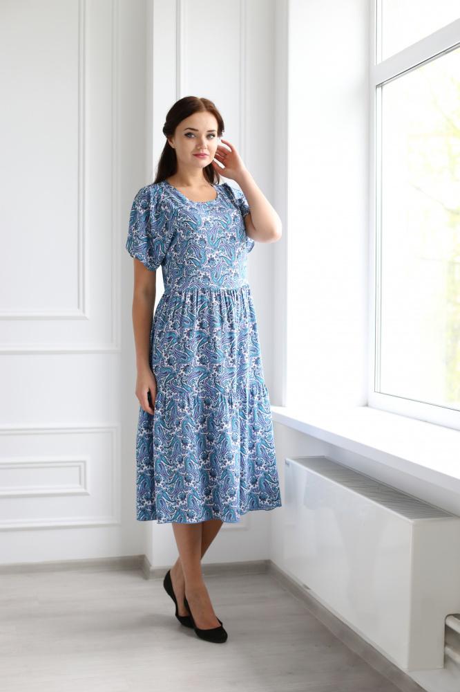 Платье женское Мечта с коротким рукавомПлатья<br><br><br>Размер: 54