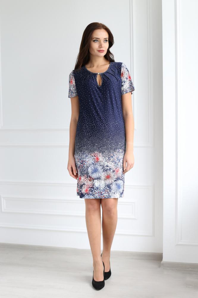 Платье женское Дульсинея с коротким рукавомПлатья<br><br><br>Размер: 52