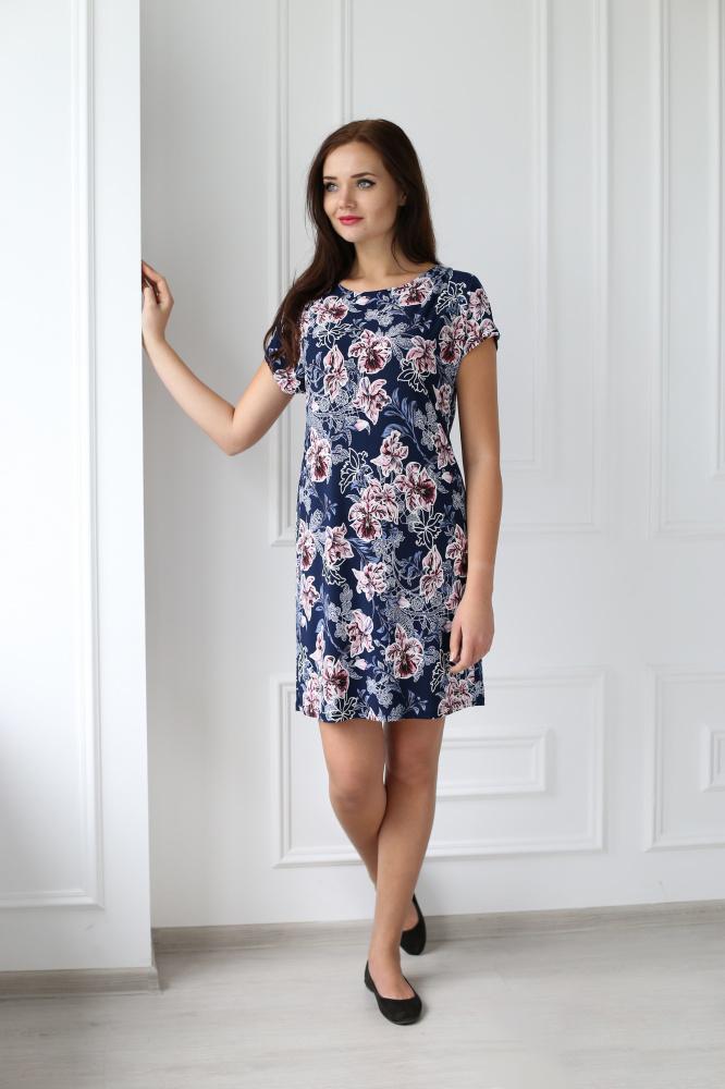 Платье женское Феникс с коротким рукавомПлатья<br><br><br>Размер: 56