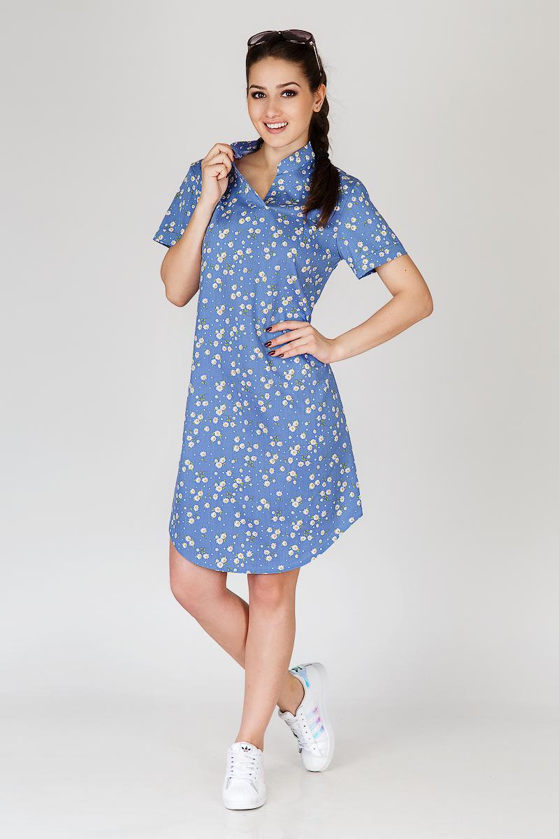 Платье женское Камилла с воротником-стойкойПлатья<br><br><br>Размер: 46