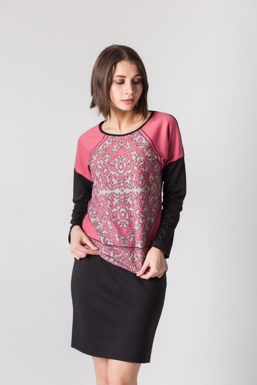 Блуза женская Франческа с длинным рукавомБлузы<br><br><br>Размер: 44