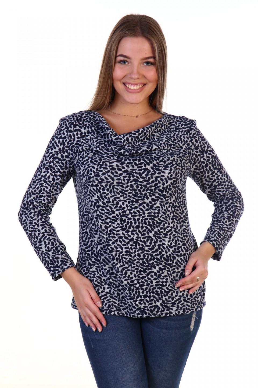 Блуза женская Берта с воротником качелиБлузы<br><br><br>Размер: 50