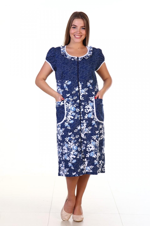 Халат женский Пэтси с накладными карманамиХалаты<br><br><br>Размер: 48