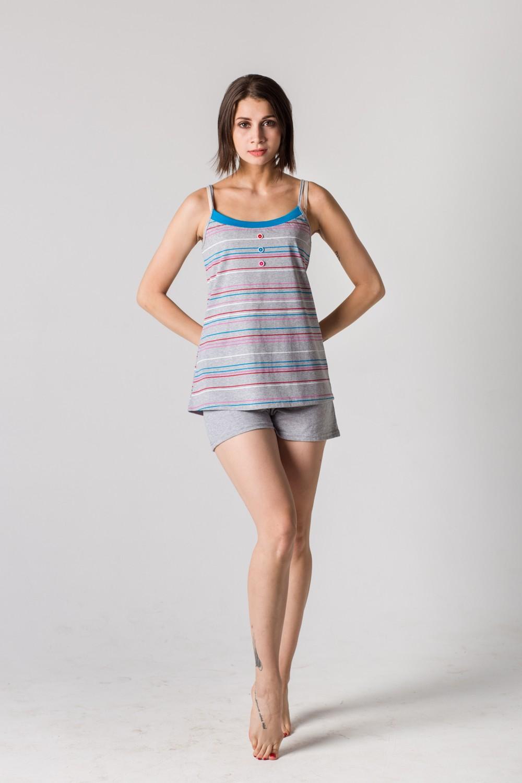 Комплект женский Илона майка и шортыДомашние комплекты, костюмы<br><br><br>Размер: 42