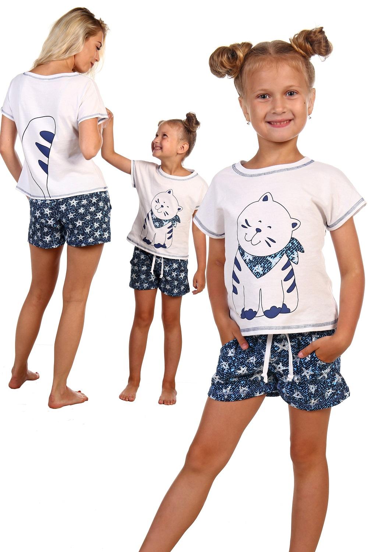 Костюм детский для девочек Шпион футболка и шортыКоллекция ВЕСНА-ЛЕТО<br><br><br>Размер: 34