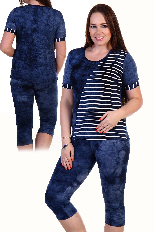 Костюм женский Мелисса футболка и бриджиКостюмы<br><br><br>Размер: 48