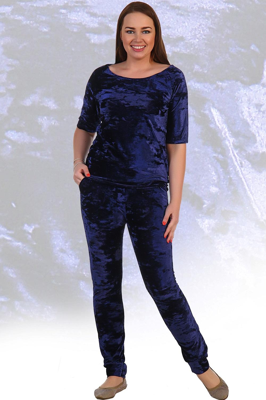 Костюм женский Водолей футболка и брюкиКостюмы<br><br><br>Размер: Тёмно-синий