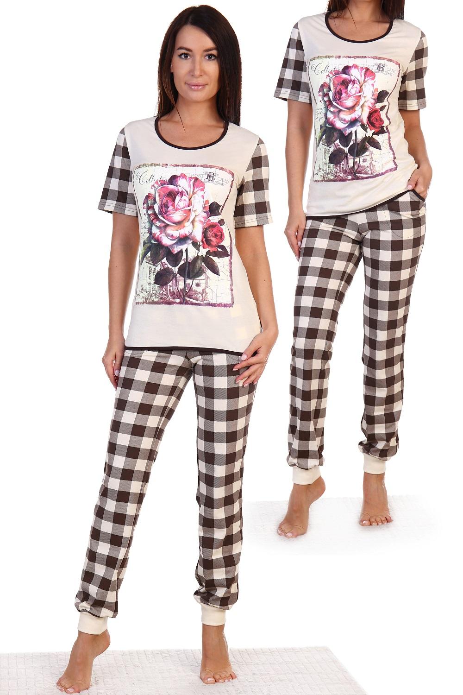Пижама женская Госпожа футболка и брюкиПижамы<br><br><br>Размер: 46