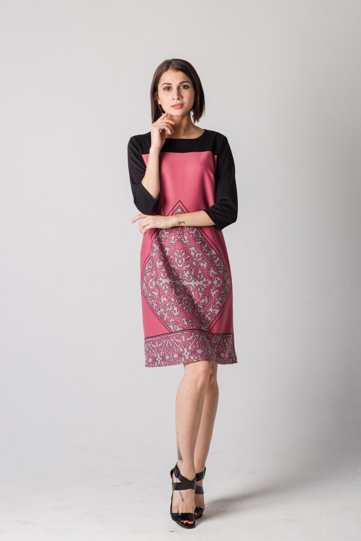Платье женское Франческа с рукавом 3/4Платья<br><br><br>Размер: 52