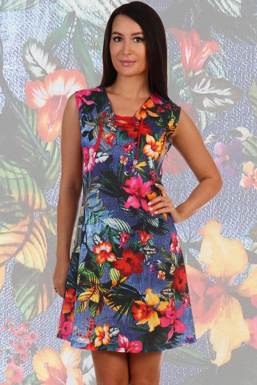 Платье женское Багамы со шнуровкойПлатья<br><br><br>Размер: 52