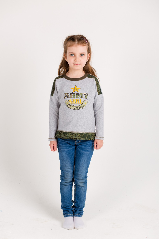 Толстовка детская для девочки Армия с длинным рукавом<br><br>Размер: 30