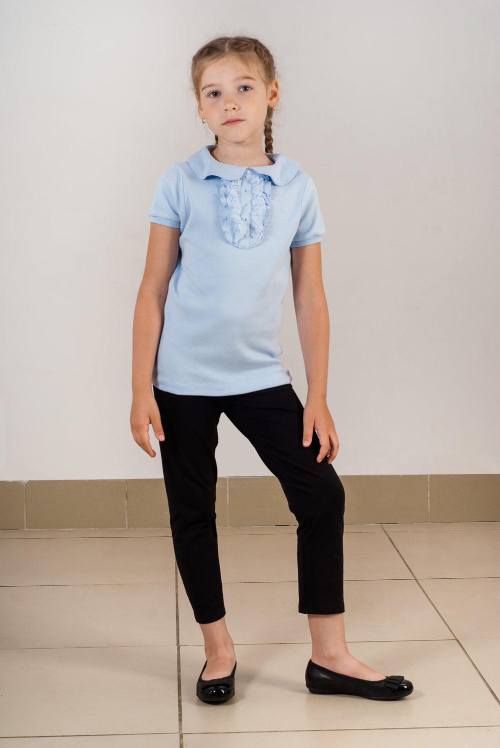 Блузка школьная для девочки Глаша с жабоКофточки и туники<br><br><br>Размер: 140
