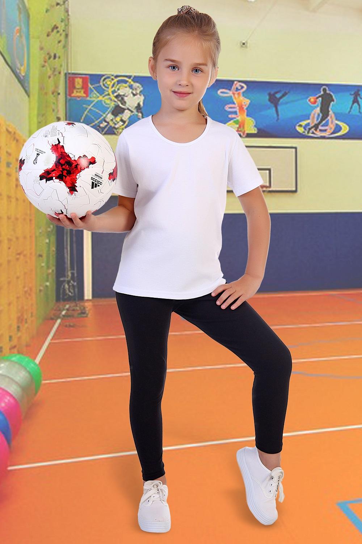 Футболка для девочки Вымпел однотонная<br><br>Размер: 36