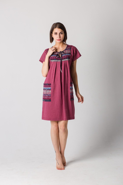 Платье женское Пелагея на завязке спередиПлатья<br><br><br>Размер: 52