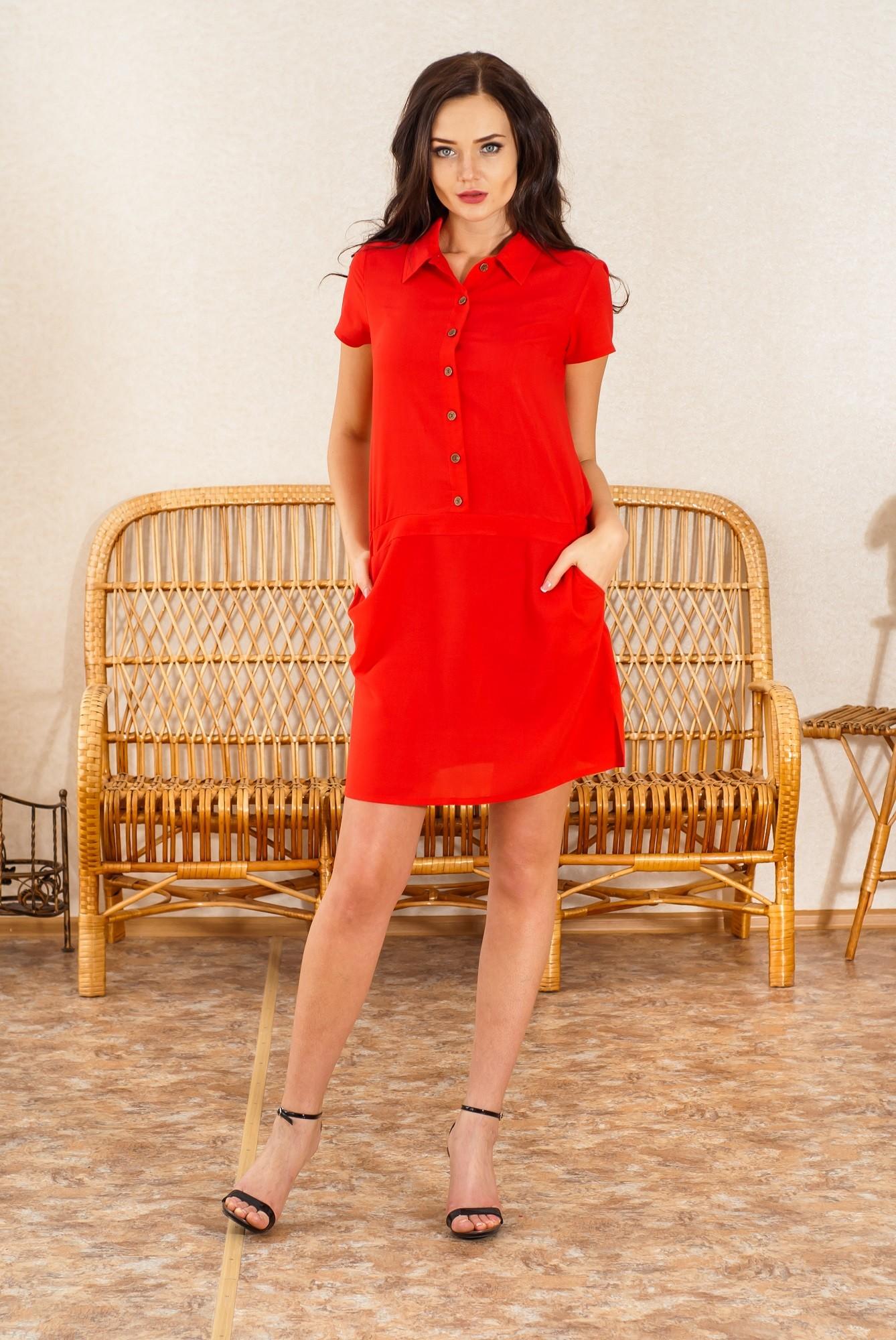 Платье женское Миллениум из штапеляПлатья<br><br><br>Размер: 50
