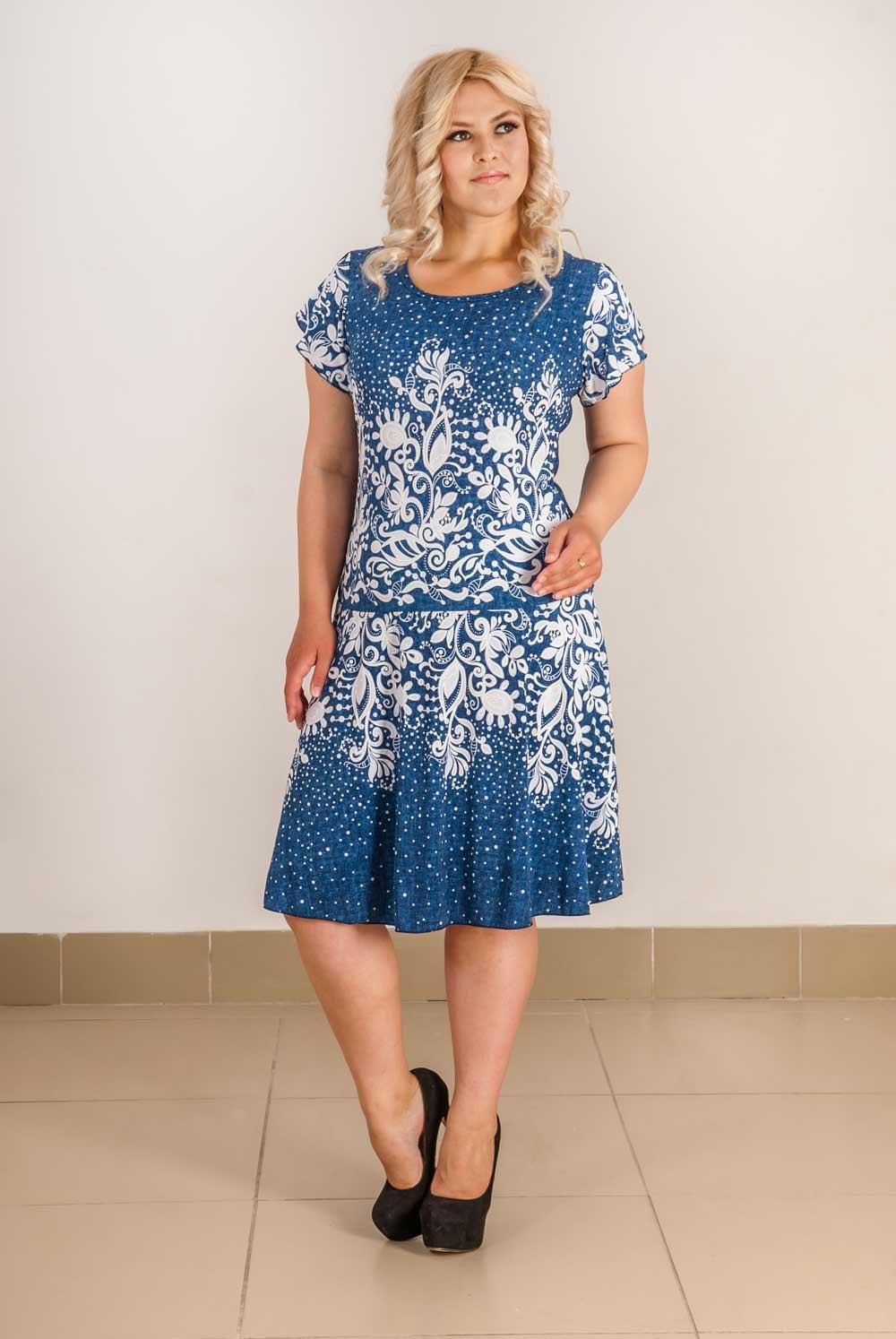 Платье женское Северяночка с коротким рукавомПлатья<br><br><br>Размер: 46