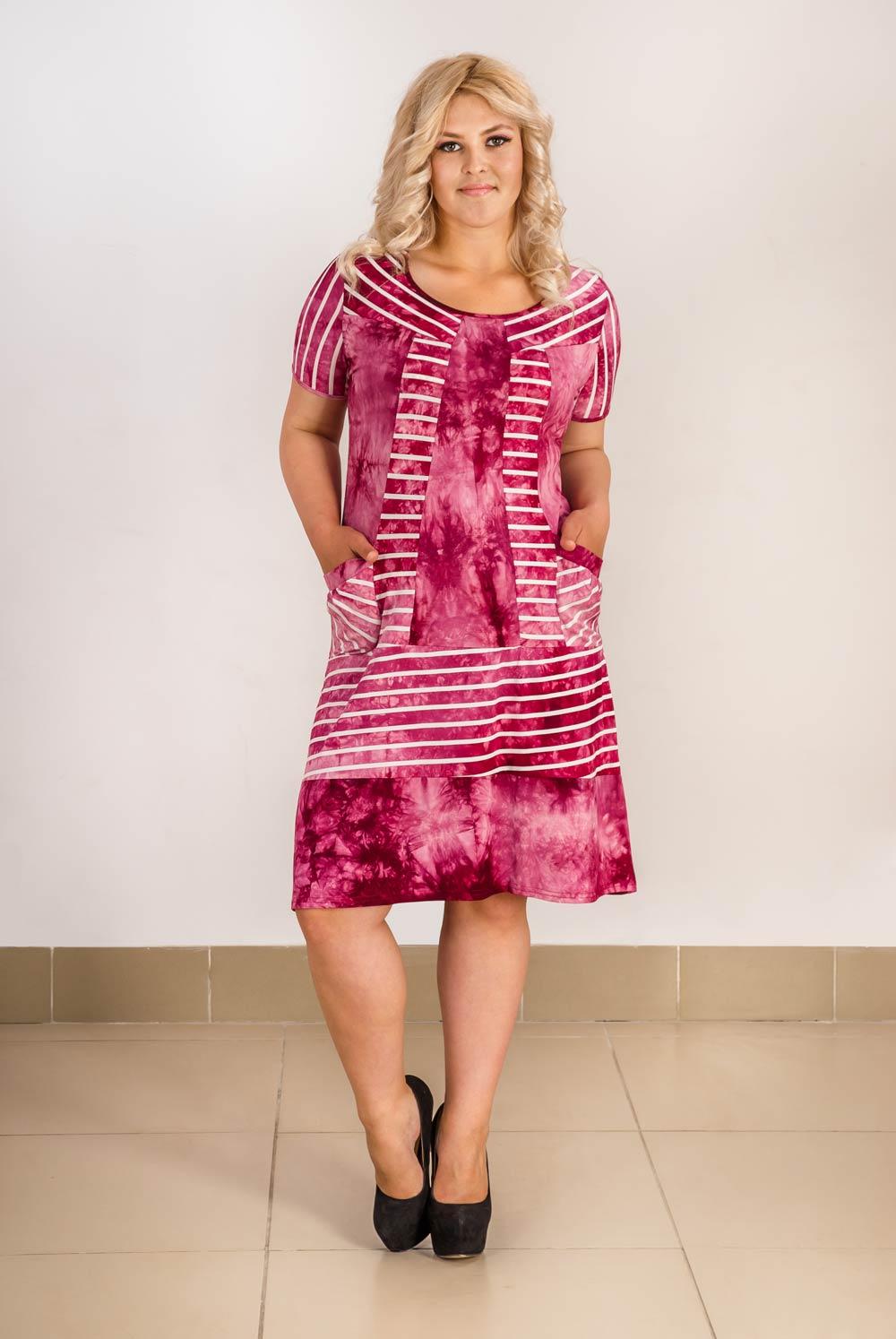 Платье женское Каберне с карманамиПлатья<br><br><br>Размер: 56