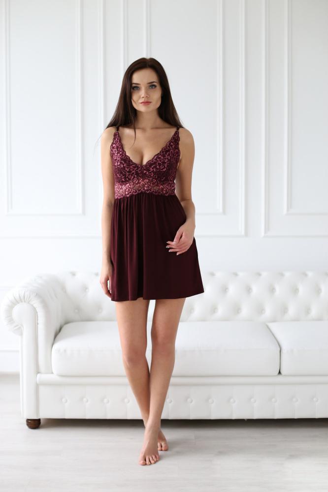 Сорочка женская Фаворитка с кружевной кокеткойСорочки<br><br><br>Размер: 50