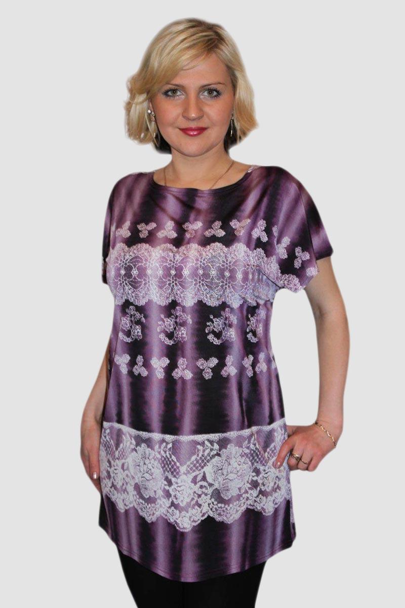 Блузка женская Блик с коротким рукавомБлузы<br><br><br>Размер: 58