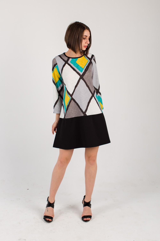 Платье женское Даниэлла с рукавом 7/8Платья<br><br><br>Размер: 52