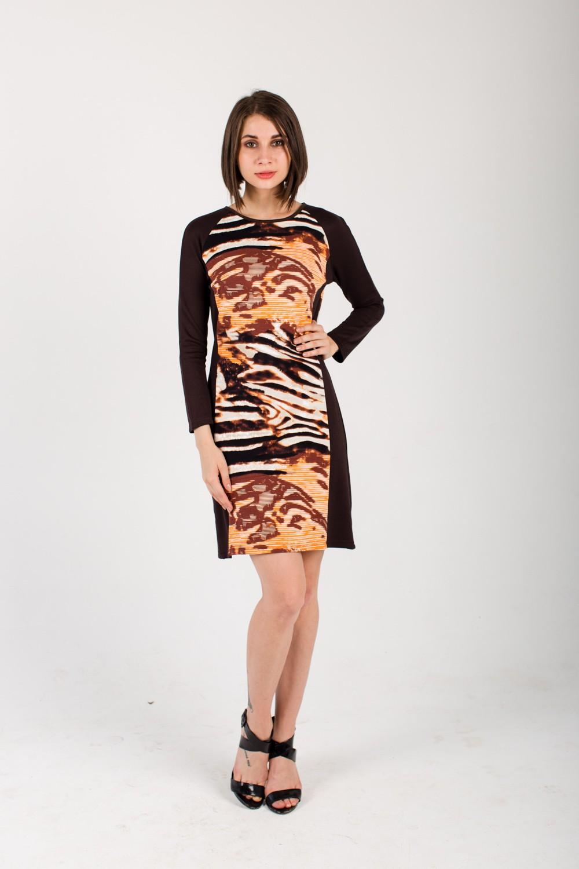 Платье женское Розали с длинным рукавомПлатья<br><br><br>Размер: 52