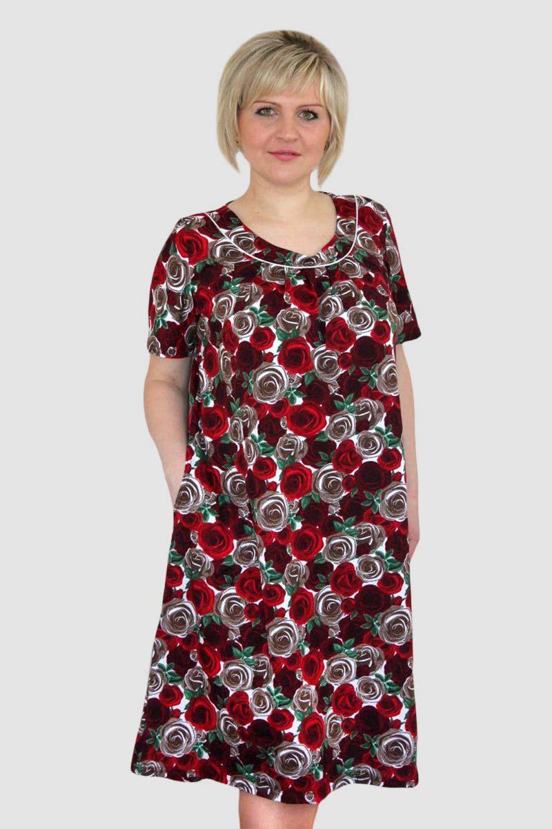 Платье женское Херши с коротким рукавомПлатья<br><br><br>Размер: 62