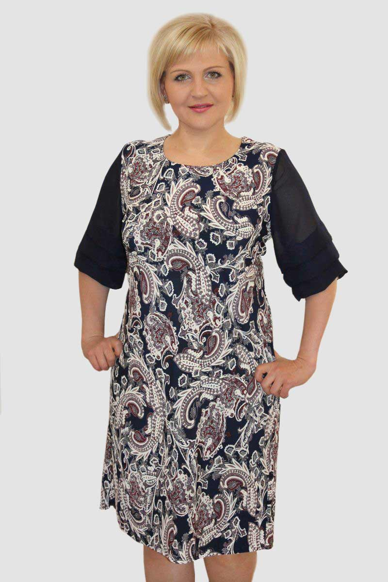 Платье женское Мадрид с рукавом до локтяПлатья<br><br><br>Размер: 56