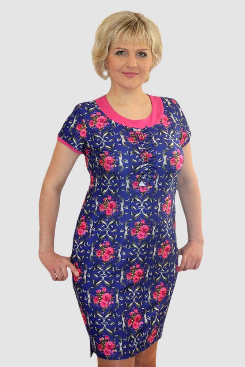 Платье женское Юки с коротким рукавомПлатья<br><br><br>Размер: 58