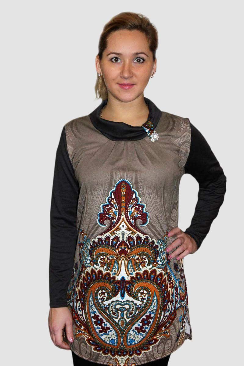 Туника женская Фатима с воротником хомутТуники<br><br><br>Размер: 50