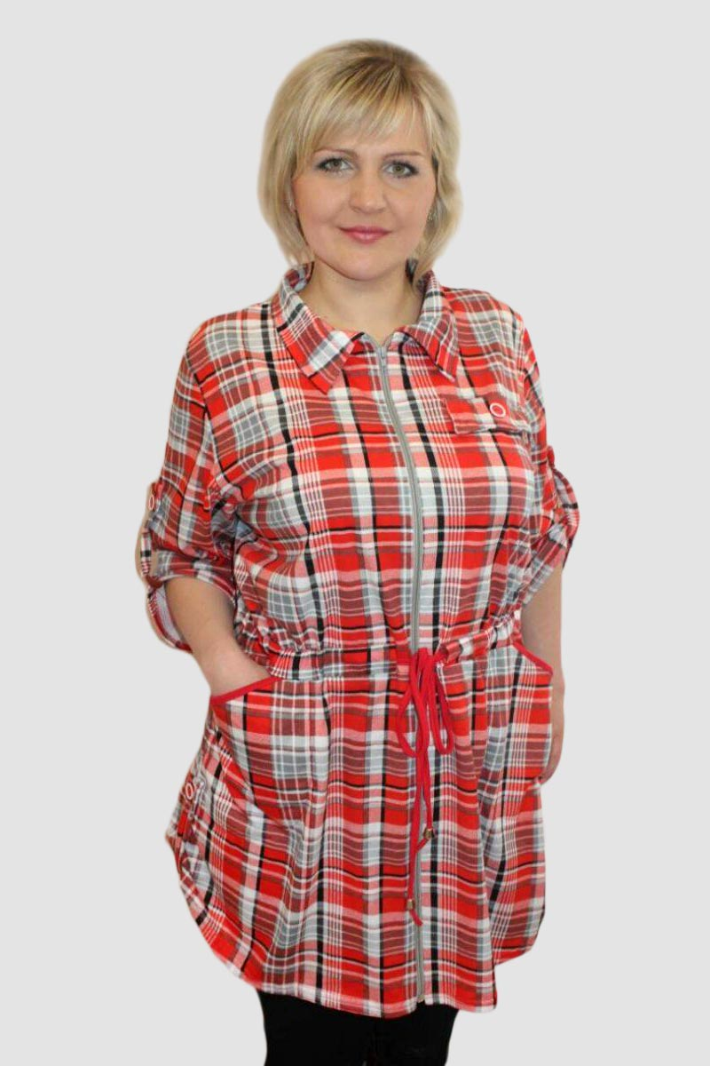 Туника женская Миранда на молнииТуники<br><br><br>Размер: 52