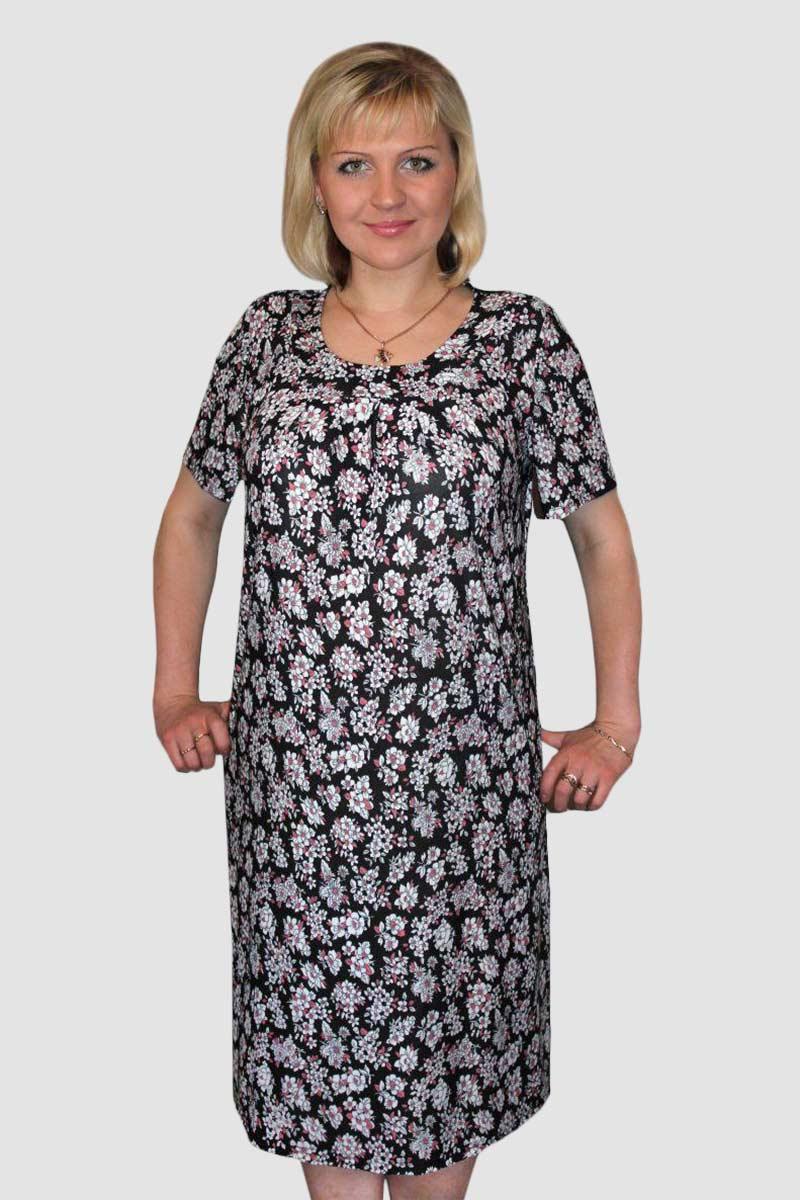 Платье женское Поле 2 с коротким рукавомПлатья<br><br><br>Размер: 58