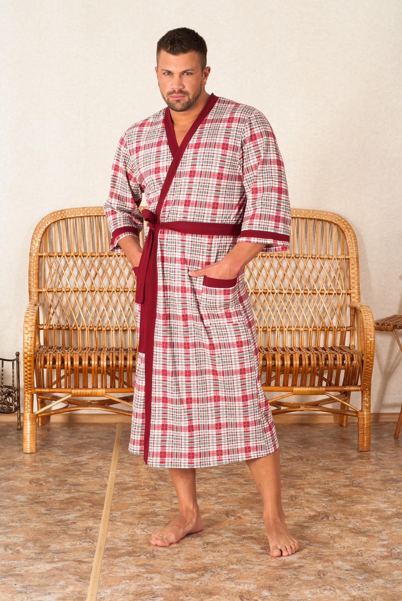 Халат мужской Робби на запахМужские халаты<br><br><br>Размер: 48