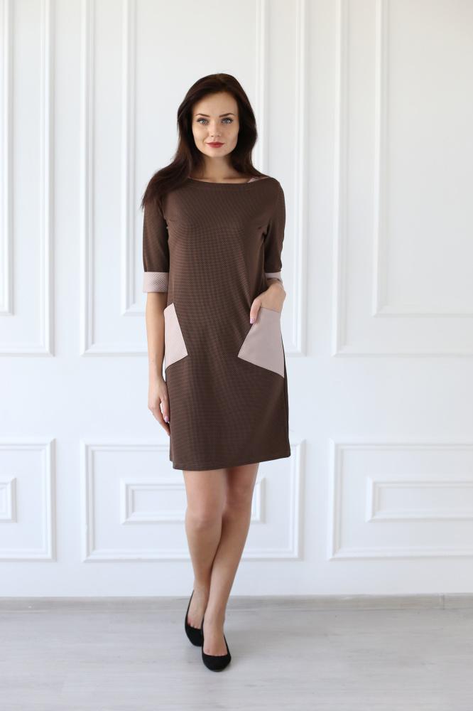 Платье женское Алекса с накладными карманамиПлатья<br><br><br>Размер: 50