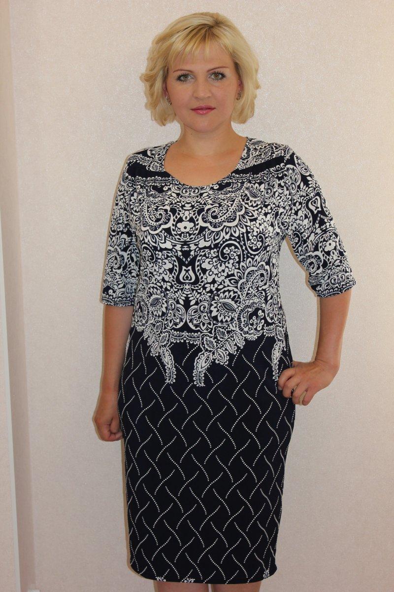 Платье женское Даная с рукавом 3/4Платья<br><br><br>Размер: 56