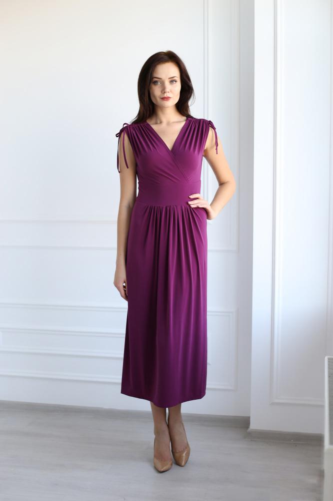 Платье женское Паулина с V-образным вырезомПлатья<br><br><br>Размер: 54