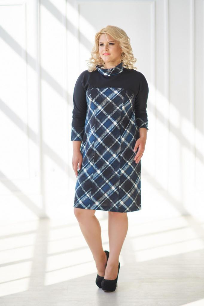 Платье женское Сибилла с рукавом 3/4Платья<br><br><br>Размер: Чёрный