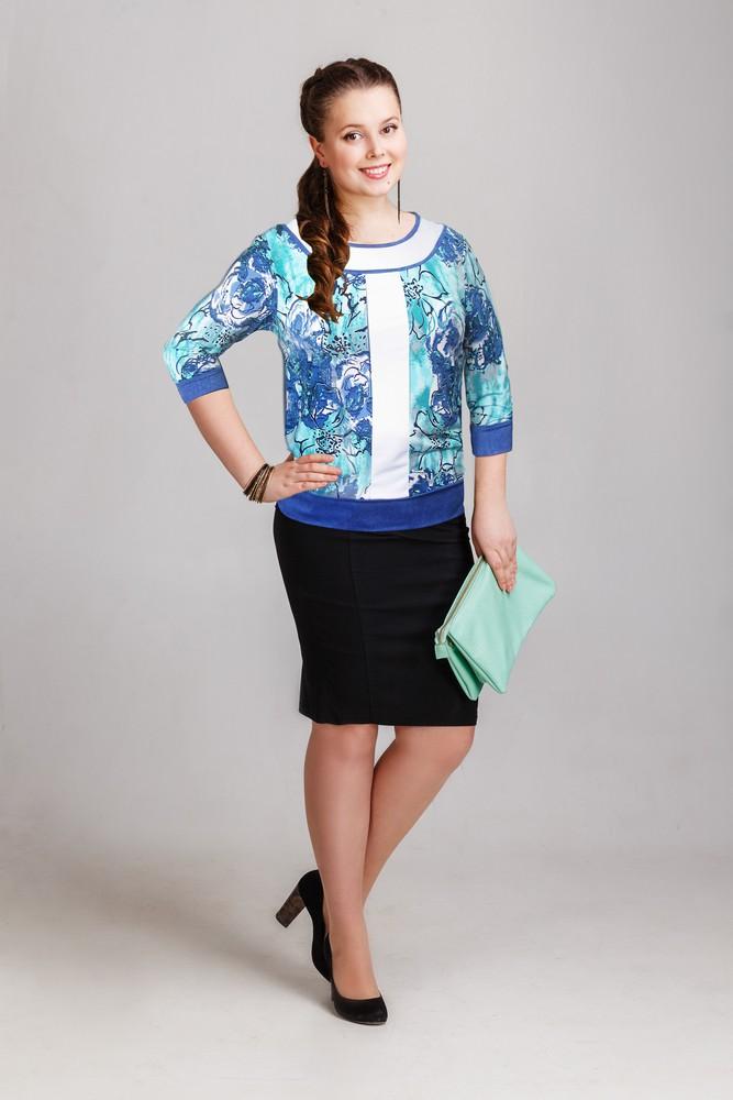 Блуза женская Весенний бризТуники, рубашки и блузы<br><br><br>Размер: 52