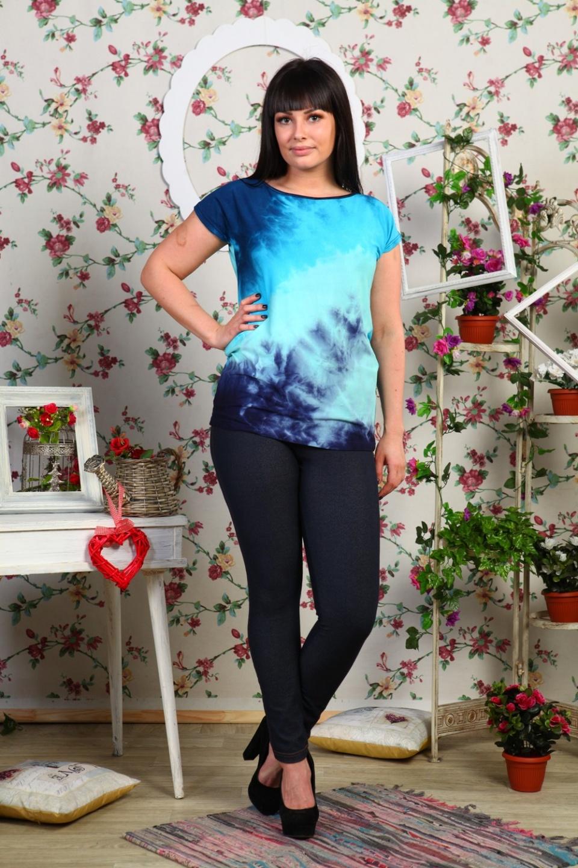 Блуза женская Лагуна с коротким рукавомБлузы<br><br><br>Размер: 54