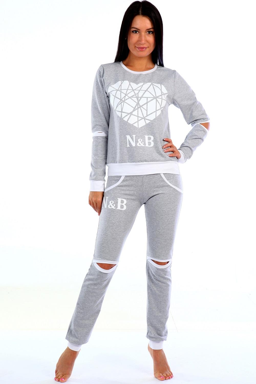 Костюм женский Изюминка блуза с длинным рукавом и брюкиКоллекция ОСЕНЬ-ЗИМА<br><br><br>Размер: 48