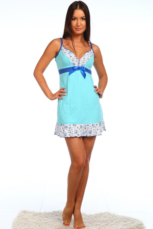 Сорочка женская Монрона тонких бретеляхСорочки<br><br><br>Размер: 46