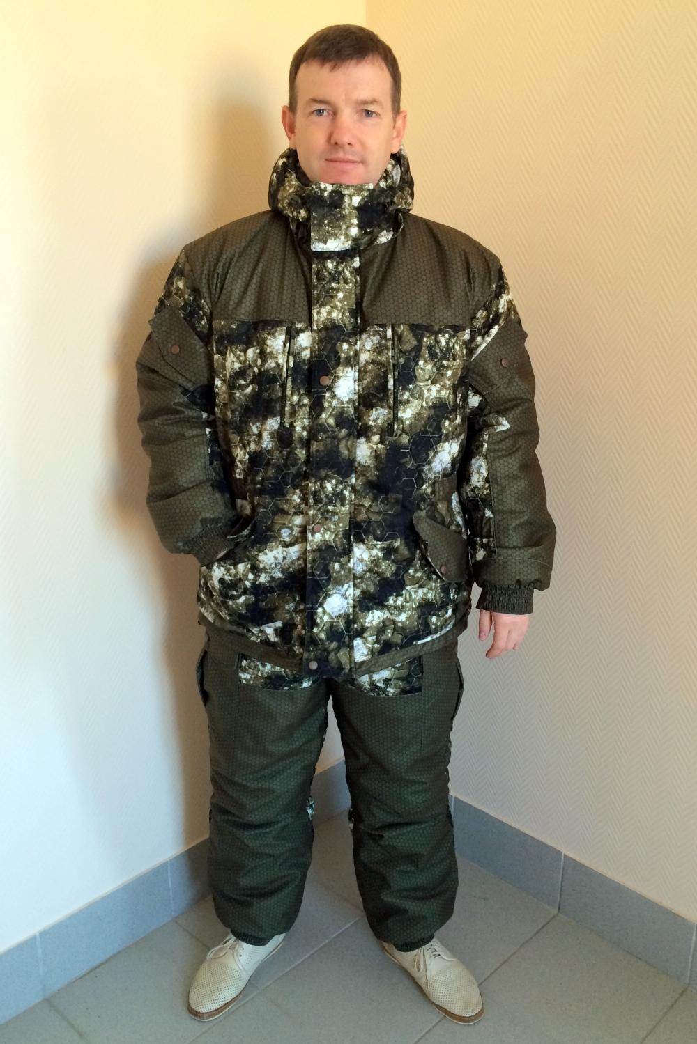 Костюм мужской Горка зима куртка на молнии с капюшономОдежда для охоты и рыбалки<br><br><br>Размер: 96-100/182/188