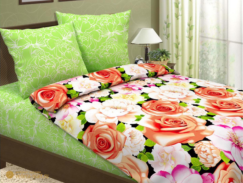 Пододеяльник Шанель - рисунок цветы (1шт)Пододеяльники<br><br><br>Размер: 1,5 спальный 217*143